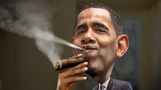 Barack Obama Cuban DonkeyHotey