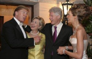Donald Trump, Bill and Hillary Clinton