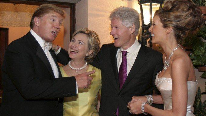 Donald Trump, Bill and Hillary Clinton