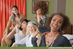 Women smoking cannabis marijuana