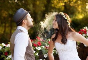 marijuana cannabis weddings bride groom