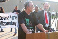 Jeff Mizanskey with his attorney Dan Viets