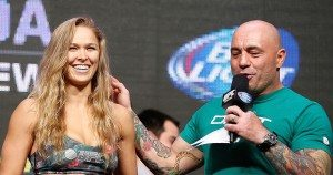 Ronda Rousey and Joe Rogan