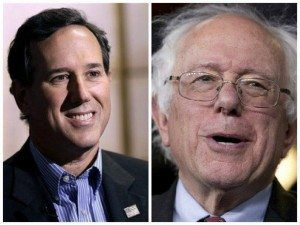Rick Santorum and Bernie Sanders