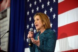 Carly Fiorina before the US Flag