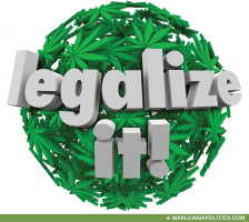 legalize it cannabis leaf sphere