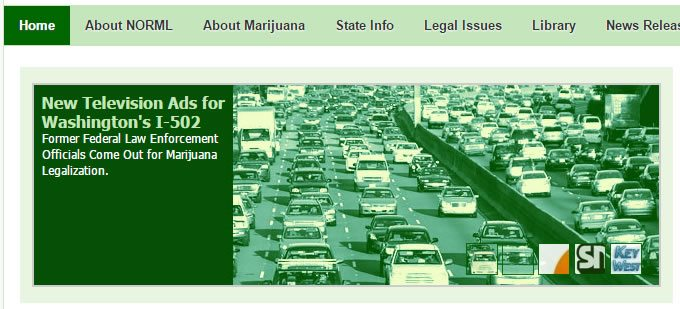 NORML's website, October 2012