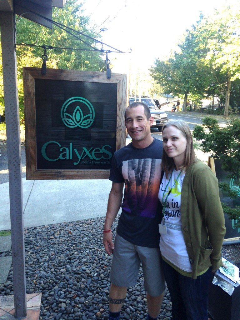 Calyxes owner John Bayes and Sarah Jane