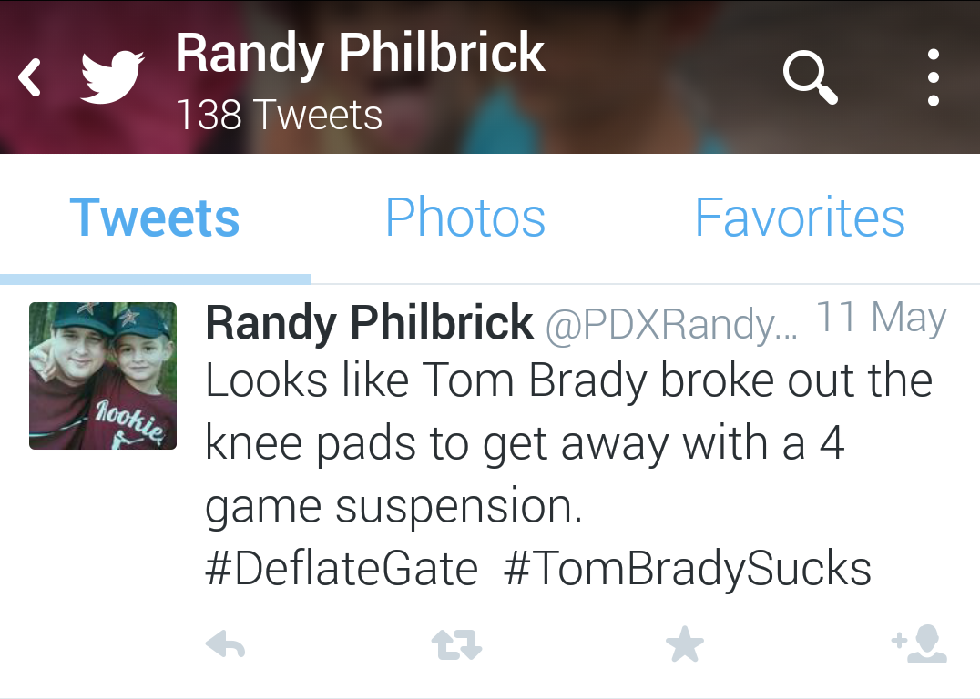 Randy Philbrick Tom Brady