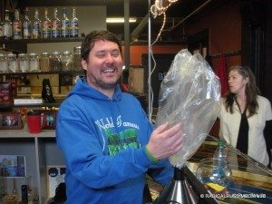 Doug Benson at the first home of the World Famous Cannabis Café