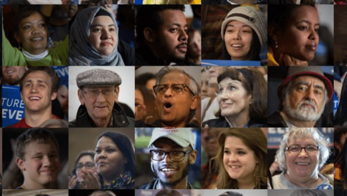 Bernie Sanders campaign faces on site