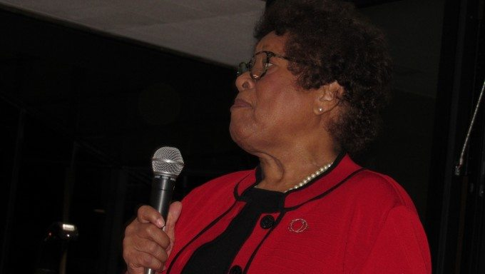 """I'm not aging, I'm saging,"" Dr. Joycelyn Elders told the ICBC opening VIP party. (Photo credit: Sunnie Day Sanchez)"