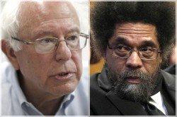 Bernie Sanders Cornle West