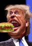 Trump Burger in Mouth DonkeyHotey
