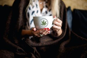 Woman with Marijuana Tea